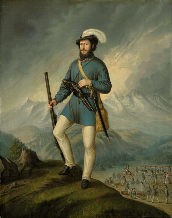 Ján Francisci as a captain of Slovak volunteers Peter Michal Bohúň, 1849-1850, oil on canvas