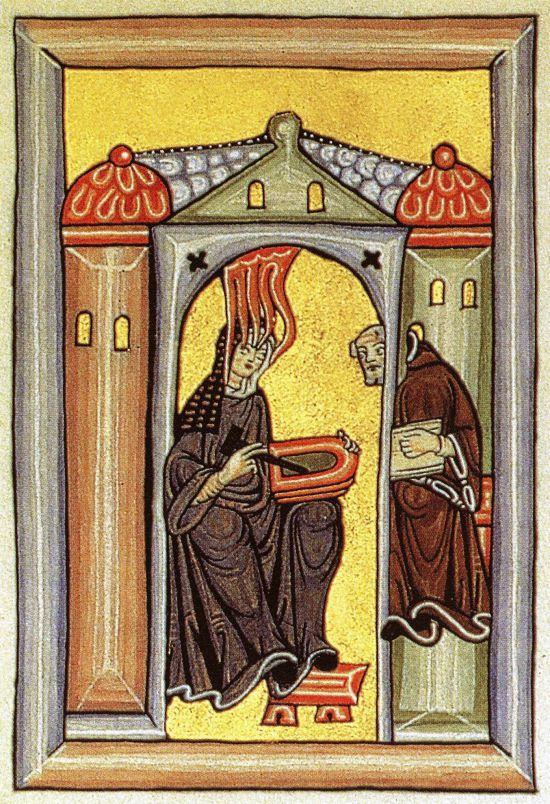 Hildegarda z Bingenu, Zdroj: Wikipedia